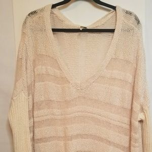 Free People Pale Pink OverSized Sz L Sweater